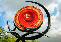 Look Into My Eye (WorcesterBarry) Tags: lovecolour abstract sky outdoors sculpture glass reflections iron clouds