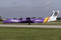 flybe Dash 8 Q400 G-PRPE at Manchester Airport MAN/EGCC (dan89876) Tags: flybe de havilland canada dash 8 q400 gprpe manchester international airport takeoff 23l south side man egcc