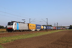 LINEAS 186 454-5 Containerzug, Graben (michaelgoll777) Tags: lineas br186 traxx
