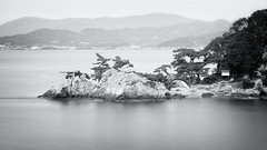 once, as a fisherman (小川 Ogawasan) Tags: japan japon torii sacred bw le shinto rock sea iso50 110s f80