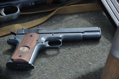 (Sam Tait) Tags: victory show cosby leicestershire england ww2 world war 2 weekend camp camping pistol side arm 9mm 1911 american us nickel dime penny 1 dollar lucky