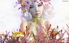 Hallelujah.. (Sistine Kristan (Sisely) - Toolbox Chicks) Tags: magnolia lode gacha hair headpiece flowers mesh photography sl secondlife virtual blog portrait