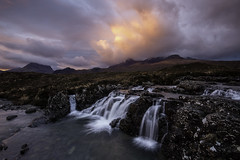 Allt Dearg Mor Isle Of Skye (Michael Long Landscaper) Tags: alldearmor cullinridge isleofskye sligachan sunrise falls wet eos canon travel dawn waterfall ridge sky clouds longexposure scotland visitscotland uk highlands river nature cuillin mountains geotagged 5d canon1635mm canoneos5d scenic highland