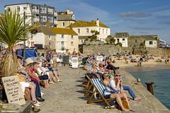 Great British holiday (Steve M Photography) Tags: stives cornwall deckchairs holidaydestination holiday vacation resort summer coast harbour bay seaside