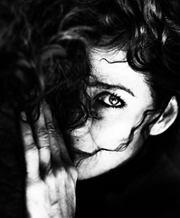 Morning... (.Betina.) Tags: portrait portraiture betinalaplante bb monochrome mood mono moody mouth eye hand woman fineart fingers blackandwhite