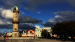 Holidayssssss....... (Renate R) Tags: leuchtturm warnemünde rostock balticsea stormyweather lighthouse ostsee clouds wolken