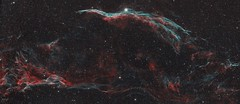 Western Veil Nebula - C34 (Beygin Photography) Tags: veil nebula c34 astroimaging astrophotography narrowband western d5300 nikon celestron orion ed80 dslr space astrophoto
