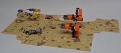 This is Podracing ! (Pierre MiniBricks) Tags: pierre minibricks pod racer lego star wars mini moc sebulba anakin tatooine menace phantom