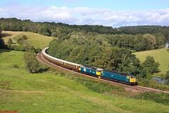 47614 & 47593 Kirkham 07-09-19 (benwheeler) Tags: 47614 47593 lsl locomotive services ltd 1z91 scarborough high wycombe kirkham abbey statesman rail br british large logo railtour charter