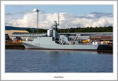 HMS Tamar P233 At BAE Systems (flatfoot471) Tags: 2019 normal scotland unitedkingdom 18125sigma ships military royalnavy hmstamar offshorepatrol shipyard yarrows riverclyde glasgow scotstoun crane cityofglasgow