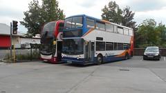 YN67YJW & WJ55NMA (jeff.day48) Tags: yn67yjw 15313 scania n250ud adl mmc wj55nma transbus trident alx400 stagecoachsouthwest paigntonbusstation