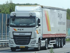 DAF XF106 spacecab from Pax Holland. (capelleaandenijssel) Tags: 91bgl4 truck trailer lorry camion lkw netherlands nl vera