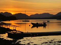 Glencoe Sunset (Ruaraidh80) Tags: scotland sunset seascape mountains water silhouette landscape glencoe loch iphone lochleven iphonography