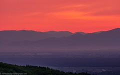 Sunset behind the Vosges and the Rhine valley (Steppenwolf33) Tags: sunset dawn mountain vosges rhine valley badenweiler sehringen steppenwolf33 twilight blackforest