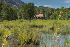 Remote cabin in the wilderness by a pond (www.higbyphotography.com) Tags: colorado marbelcolorado roaringforkvalley rockymountains therockies alone cabin hidden hideawy house mountains pond private remote removed secluded seclusion sequester wilderness