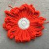 A future Day of the Dead crochet flower (crochetbug13) Tags: crochet crocheted crocheting crochetflower dayofthedead yarnbomb crochetsugarskull crochetyarnbomb crochetdaisy