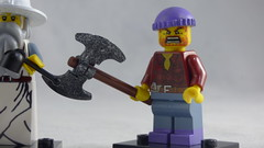 Brick Yourself Custom Lego Figure - Berserker Lumberjack
