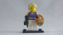 Brick Yourself Custom Lego Figure - Woman with Paint Pallete & Powerdrill