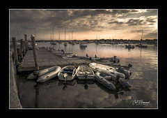 Harborside (windshadow2) Tags: ri usa water sunrise reflections coast harbor sony rhodeisland coastal newport bosts a6000 wharf