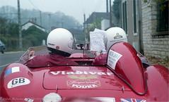 Lost In France. ( Maserati 300s Beaujolais Run 1990) (RED FROG ( Austin Healey) SPRITE) Tags: beaulolais healey beaujolais rally ektacolorgpf160professional nikon f3 france wine maserati 300s