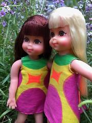Chris and Christine (Foxy Belle) Tags: chris tutti mod doll vintage barbie kids 1960s