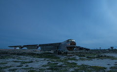 Desert Decoy (Nocturnal Kansas) Tags: night nocturnal moon full led1 protomachines d800 nikon nightphotography lightpainting longexposure desert mojave airplane