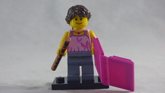 Brick Yourself Custom Lego Figure - Sweet Girl with Flute & Pink Book