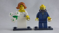 Brick Yourself Custom Lego Figure - Wedding Couple