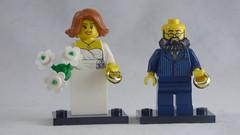 Brick Yourself Custom Lego Figure - Wedding Couple