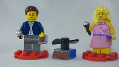 Brick Yourself Custom Lego Figures - Man with Drone & Lady with Lipstick