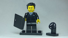 Brick Yourself Custom Lego Figure - Classy Chauffeur with Laptop
