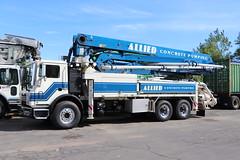 Allied Concrete Pumping Truck (raserf) Tags: allied concrete cement truck trucks pump pumper pumping putzmeister sturtevant wisconsin mack racine county