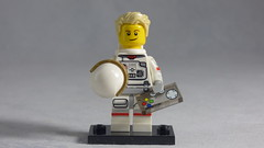 Brick Yourself Custom Lego Figure - Astronaut with Game Controller