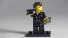 Brick Yourself Custom Lego Figure - Happy Pilot with Game Controller