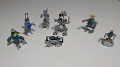 Rap Battle Robots  Made from the parts in the loot bag from Bricks In The Six.