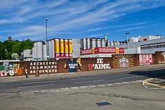 Wellpark Brewery, Glasgow, UK (Robby Virus) Tags: glasgow scotland uk unitedkingdom gb greatbritain wellpark brewery beer brewing street art brick wall lager tennents