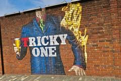 Tricky One, Glasgow, UK (Robby Virus) Tags: glasgow scotland uk unitedkingdom gb greatbritain wellpark brewery beer brewing street art brick wall lager smug graffiti mural artist tennents tricky one