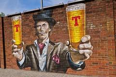 Tennents, Glasgow, UK (Robby Virus) Tags: glasgow scotland uk unitedkingdom gb greatbritain wellpark brewery beer brewing street art brick wall lager smug graffiti mural artist tennents