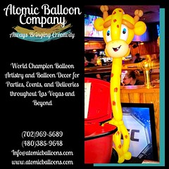 Happy Tuesday, everyone! #toocutetuesday #giraffe #lasvegasballoonartist   Atomic Balloon Company brings World Champion Balloon Artistry and Balloon Decor to every party, event, and delivery throughout Las Vegas and beyond! (702)969-5689 (480)385-9648 www (Atomicballooncompany) Tags: partyentertainer lasvegasballoonartist vegas balloons balloondecor lasvegas partydecorations vegaslocalbusiness partyentertainment balloonart lasvegaslocals giraffe balloonartist toocutetuesday champion party
