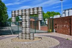 Tennents, Glasgow, UK (Robby Virus) Tags: glasgow scotland uk unitedkingdom gb greatbritain wellpark brewery beer brewing street art brick wall lager tennents kegs t