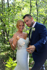 sparkle n shine (Kate ENK) Tags: wedding young couple beauty white tux suit fancy celebration weddings photography sparklers party cheers