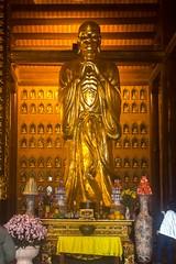 Dorada estatua (rraass70) Tags: canon d700 monumentos estatuas ninbinh deltadelriorojo vietnam