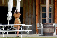 Closing Time (emerge13) Tags: people human candid women uniforms summertime architecturedetails vintage saariysqualitypictures woman bestcapturesaoi
