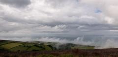 Low Clouds (Jocey K) Tags: triptoukanderoupe2019 june england uk devon seascape landscape sky clouds sea fields hills