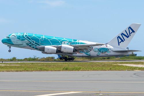 ANA Airbus A380-841; JA382A@HNL;10.09.2019