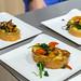 Bunter Snack für IFA-Besucher: Arme Ritter auf weißen Tellern serviert