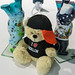 """Souvenirs from the capital city of Germany: painted Berlin bears and teddy bears with """"I love Berlin"""" shirt"""