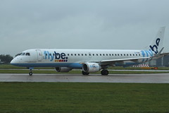 G-FBEI, Embraer 190, FlyBe, Manchester (Ian A Gratton) Tags: manchester flybe
