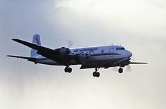 G-APSA DC6 Air Atlantique CVT March 95 (cvtperson) Tags: gapsa dc6 air atlantique instone coventry airport cvt egbe