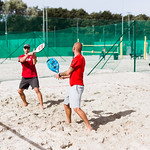 Liepājas meistarsacīkstes pludmales tenisā 2019. Foto: Mārtiņš Vējš